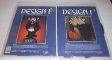 Lot of 2 Vtg Halloween Dracula Cat Walk Soft Sculpture Design 1 Kits Wall Decor