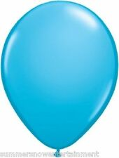 20 BALLOONS latex TURQUOISE deep ROBINS egg NEW weddiing PROM quinc