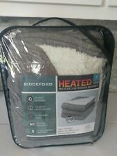 NEW! Biddeford Electric Plush Sherpa Blanket Twin Controller Heated