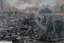 WW2 Russian front Military Art  Print  German Panzer tamks  Imfamtry Stalingrade