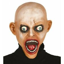Screaming Bald Zombie Overhead Latex Mask Horror Scary Halloween