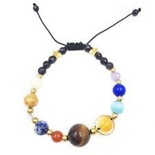 Unisex Handmade Solar System Bracelet Universe Galaxy The Nine Planets Guardian
