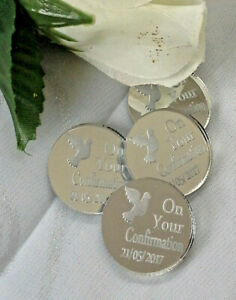 Personalised Confirmation 'Coins' x 30 Gift Momento Keepsake Souvenirs