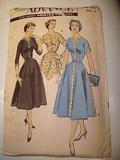 UNCUT 1940s 40s Advance 8525 vtg Sewing Pattern tailored dress bust 36 waist 28