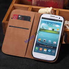 For Samsung Galaxy S3/S3 Neo New Genuine Leather Flip Stand Wallet Case Cover