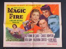 * HALF SHEET Movie POSTER-MAGIC FIRE-YVONNE-DeCARLO-CARLOS THOMPSON-1955