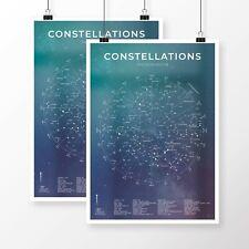 Zodiac Constellation Astrology Poster Star Sign Art Unframed Various Sizes