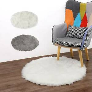 60/90cm Xmas Tree Skirt Base Round Fluffy Faux Fur Rug Floor Mat Cover Party Mat