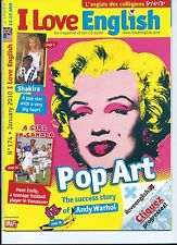 ANDY WARHOL *MARILYN MONROE* POP ART, SHAKIRA *I LOVE ENGLISH* JAN 2010