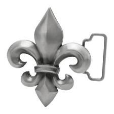 Buckle Rage Silver Fleur de Lis Decorative Belt Buckle