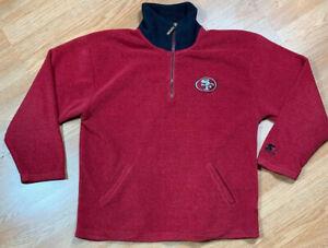 VTG Starter 1/4 Zip Pullover Fleece Sweater San Francisco 49ers NFL Men's SZ L