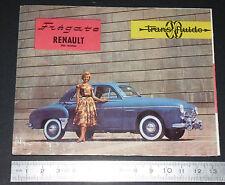 DEPLIANT BROCHURE PUBLICITE REGIE RENAULT FREGATE TRANSFLUIDE 1957 AUTOMOBILE