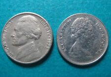 1973 Lot of 2 US/CANADA 5 CENTS COINs>> 1973 Lot of 2 US/CANADA 5 CENTS COINs