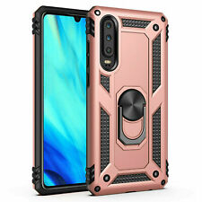 Huawei P30 Lite Shockproof Military Case Cover Armor 360 Stand Ring Holder
