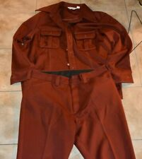 Vintage 1970s WRANGLER Polyester Trevira Button Up Shirt Pants WESTERN Outfit