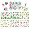 12Pcs Mixed Nail Art Water Transfer Sticker Manicures DIY Decor Decals