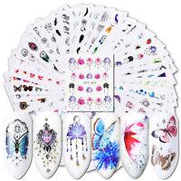40 Stück Wasserzeichen Nail Art Sticker Blume Schmetterling Maniküre Abziehbilde