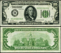 FR. 2151 B $100 1928-A Federal Reserve Note New York B-A Block XF DGS