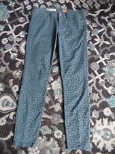 ANTHOPOLOGIE PILCRO Women's 27 Blue Animal Print Cotton Blend Skinny Jeans
