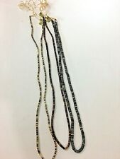 Philippines Gray Brown 24 Inch Pooka Puka Bead Necklaces Three Strands Vintage