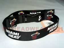 OFFICIAL LICENSED NBA LANYARD ***MIAMI HEAT BLACK*** KEYCHAIN KEYRING