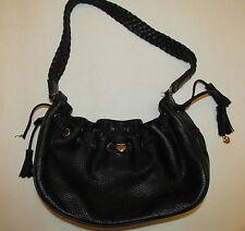 LOVCAT PARIS pebbled buttery leather braided shoulder strap hobo bag