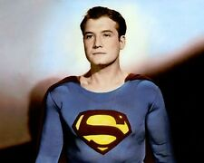 "GEORGE REEVES ADVENTURES OF SUPERMAN 1950s 8x10"" HAND COLOR TINTED PHOTOGRAPH"