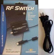 NEW RF RFU TV Cable & AC Power Cord Set For Sega Saturn