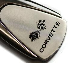 Chevrolet Chevy Corvette C3 Chrome Teardrop Authentic Logo Key Ring Fob Keychain
