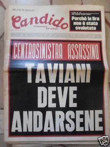 CANDIDO CENTROSINISTRA ASSASSINO 5 SETTEMBRE 1974