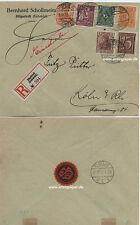 Reco Brief MiF Inflation Infla Fa. Schollmeier Hüpstedt Eichsfeld nach Köln 1922