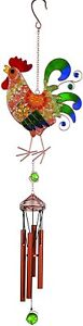 """Wireworks™ Vibrant Mesh Rooster WIND CHIME 30"""" by Carson Home Accents"""