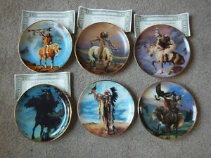 6 Franklin Mint Western Heritage Museum plates by Hermon Adams