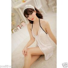 Backless Nightgowns Strap Nightwear Babydoll Sleepwear With G-string