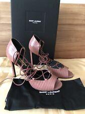 b2746c452d Original YSL Yves Saint Laurent Glamour Pumps Leder rose dark Gr.38,5 NEU