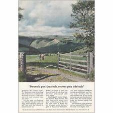 1956 British Travel Association: Cyrptic Cymric Vintage Print Ad