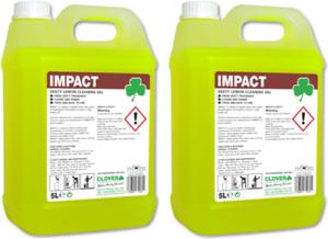 Clover Impact 2x5Ltr Lemon Floor Gel High Impact Floor Cleaner 10Ltr Clover 111