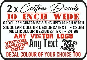 Custom Vinyl Decals Logo Designs Personalised Glass Stickers Text Cut Signs