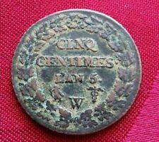Cinq centimes Dupré AN 5 W