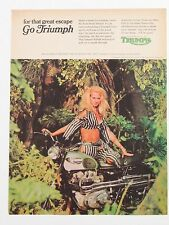 1968 Triumph Motorcycles Full One Page Print Advertisement