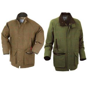 Alan Paine Mens Compton Tweed Wool Shooting Outdoor waterproof Jacket Coat