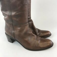 Vintage Jones Size 39 US8 UK6 Brown Leather Knee High Pull On Booties Boots