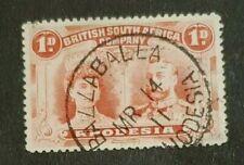 Rhodesia 1d Double Head with scarce BALLA BALLA Skeleton Postmark
