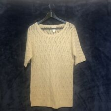 Motherhood Maternity Sweater Women's Size Large Cream Short Sleeve Gently Used