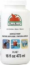 Barrel Acrylic Paint in Assorted Colors (16 Ounce), 21119 White