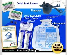 Toilet Tank Water Audit Kit | Flapper, Displacement, flow Bag & Dye Tabs