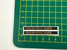 old school bmx decals stickers suzue sealed hubs, black on chrome