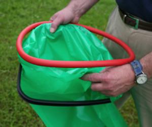 Hand Held Refuse Sack Holder bin bag garbage ring hoop litter collecting picking