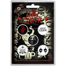Alice Cooper pack of 5 round pin badges (ro)