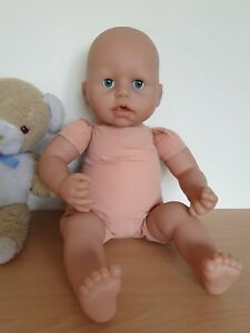 """17"""" Baby Doll To Dress ~ Zapf Baby Annabell Doll 2009 with battery box removed."""
